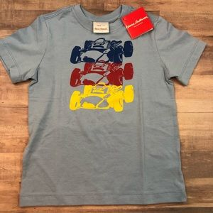 NWT Size 110 HANNA ANDERSSON race car T-shirt